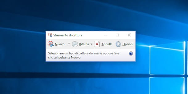 Screenshot di Strumento di cattura su Windows 10
