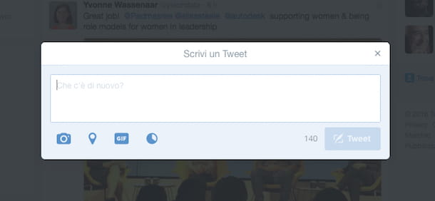 Screenshot che mostra come twittare una foto