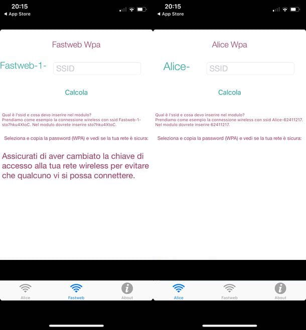 scoprire la password wifi con iphone