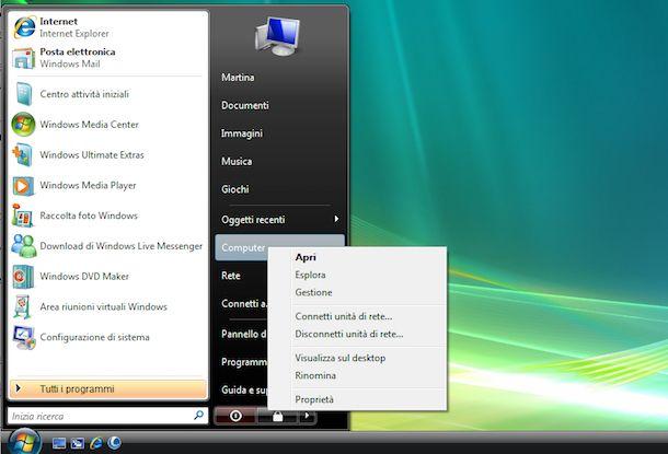 Screenshot di Windows Vista