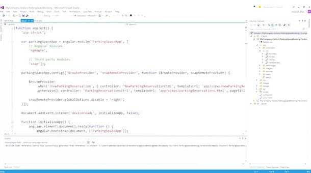 Screenshot di Visual Studio di Microsoft