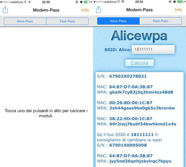 Screenshot di Modem-Pass