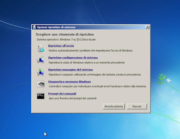 Screenshot di Windows 7