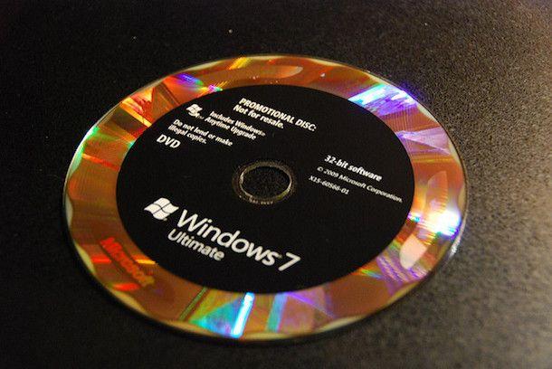 Foto del DVD di Windows 7
