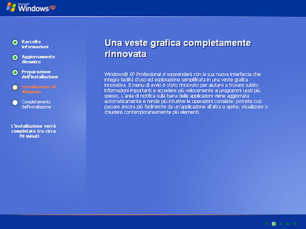 Installazione di Windows XP