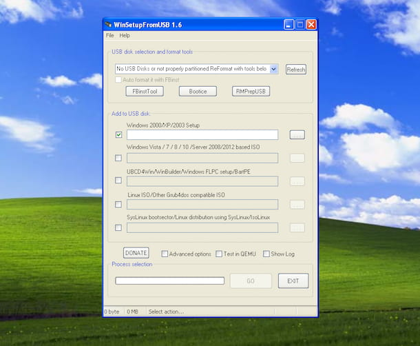 Screenshot che mostra come formattare Windows XP