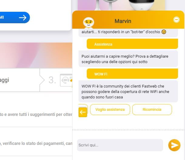Come parlare con operatore Fastweb: chat