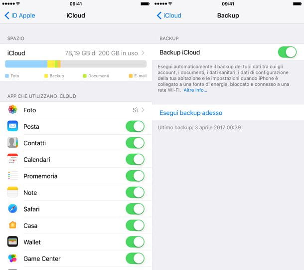 Come effettuare backup iPhone 6