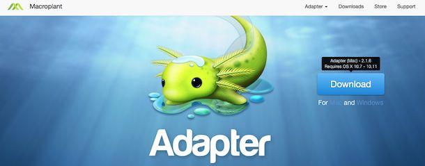 Screenshot di Adapter