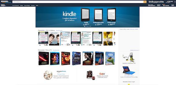 Screenshot di Amazon Prime