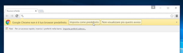 Screenshot che mostra come impostare Chrome come browser predefinito su Windows