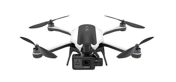 Foto di un drone con supporto per GoPro