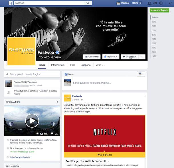 Screenshot Fastweb