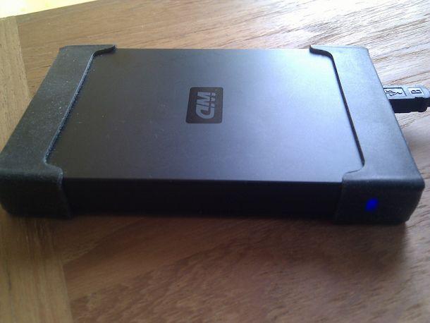 Foto di un hard disk esterno