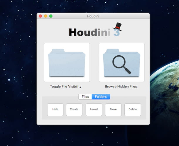 Screenshot di Houdini