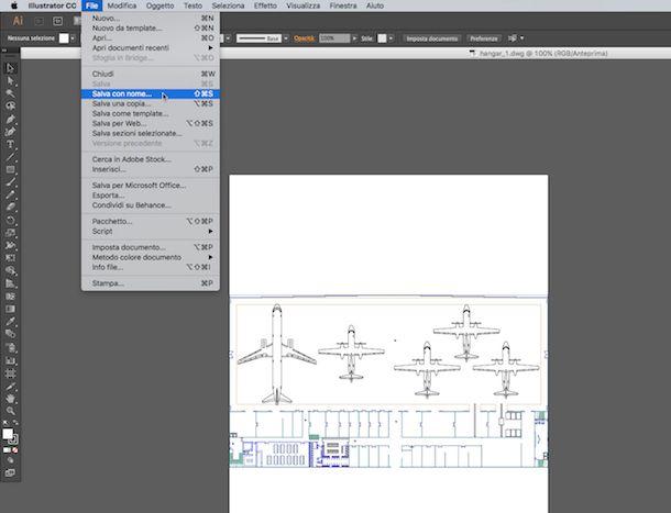 Screenshot di Adobe Illustrator