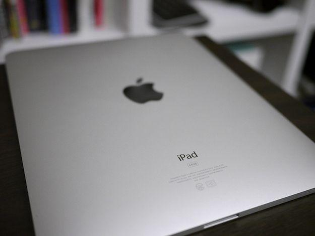 Foto della parte posteriore di un iPad