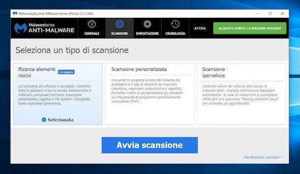 Screenshot che mostra come togliere Sweet Page
