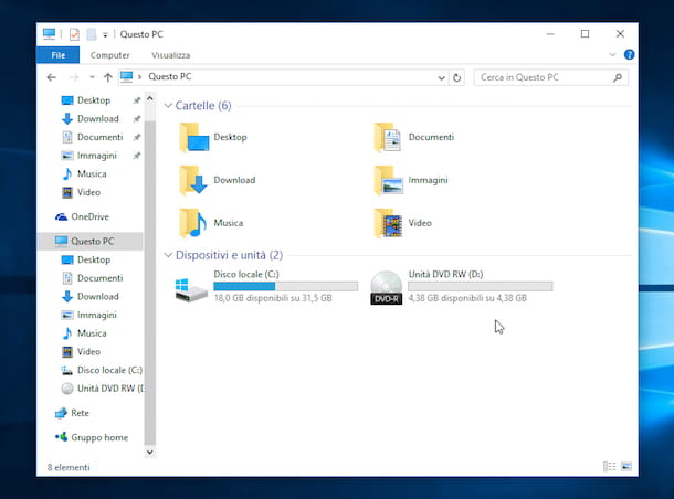Screenshot che mostra come masterizzare con Windows 10