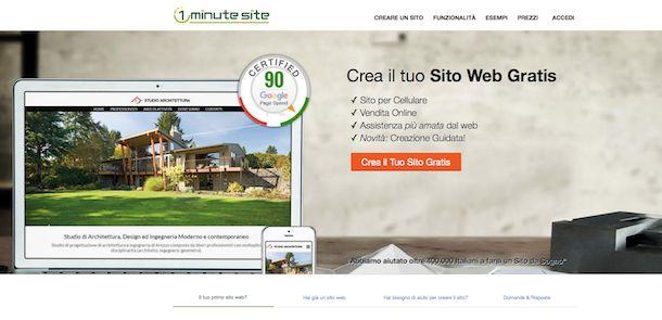 Screenshot di 1 Minute Site