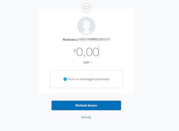 Screenshot di PayPal