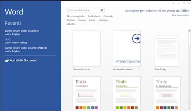 Screenshot che mostra come esportare PDF in Word