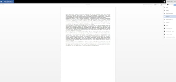 Screenshot che mostra come esportare PDF in Word