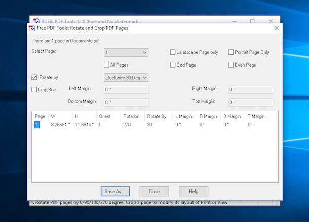 Screenshot di PDFill PDF Tools