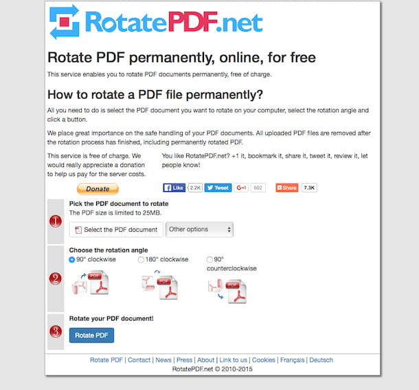 Screenshot di RotatePDF