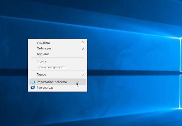Immagine che mostra come sdoppiare schermo PC