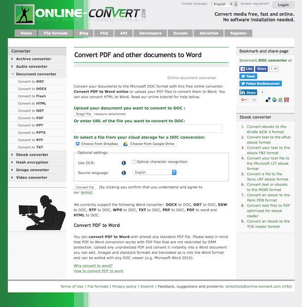 Screenshot che mostra come convertire TXT in Word