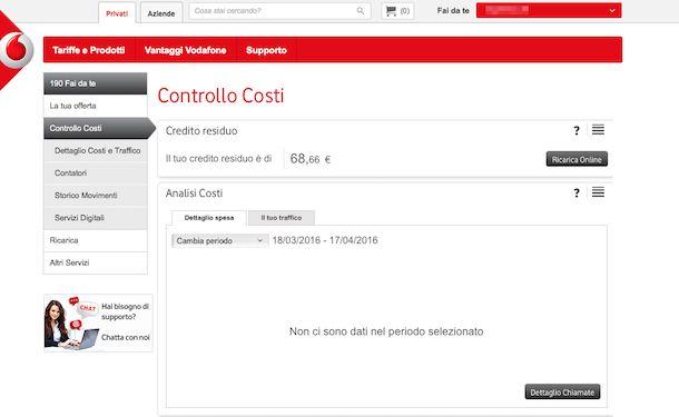 Screenshot Vodafone