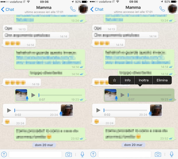 registrazioni whatsapp