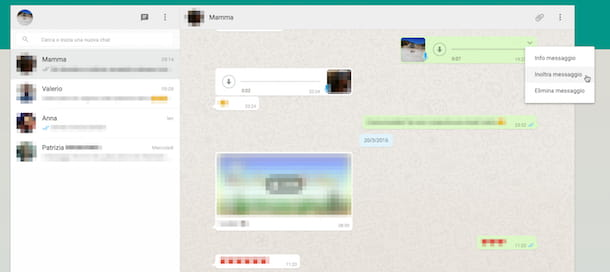 Screenshot di Whatsapp Web