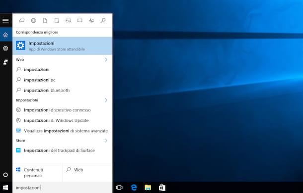 Screenshot di Windows 10