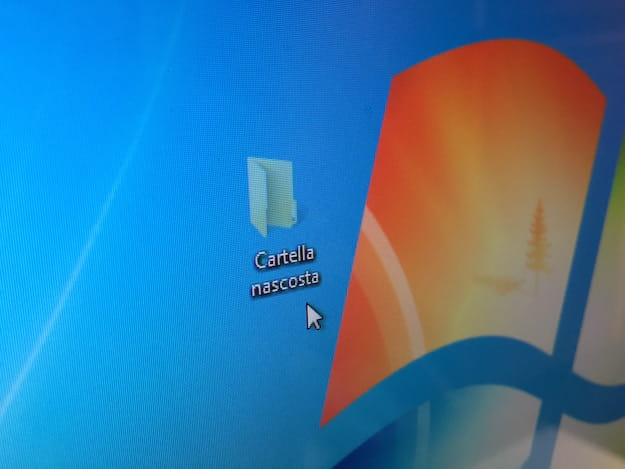 Foto che mostra una cartella nascosta su Windows 7
