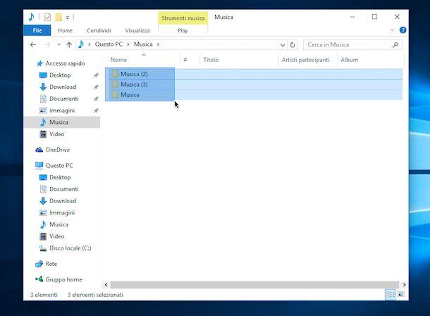Screenshot che mostra come selezionare tutto su Windows