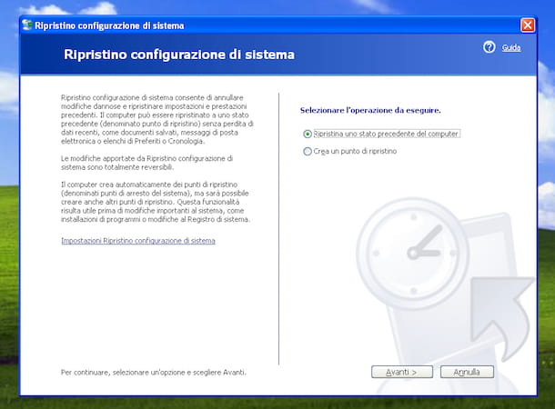 Screenshot di Window XP