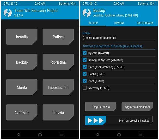 Come si fa un backup Android Nandroid