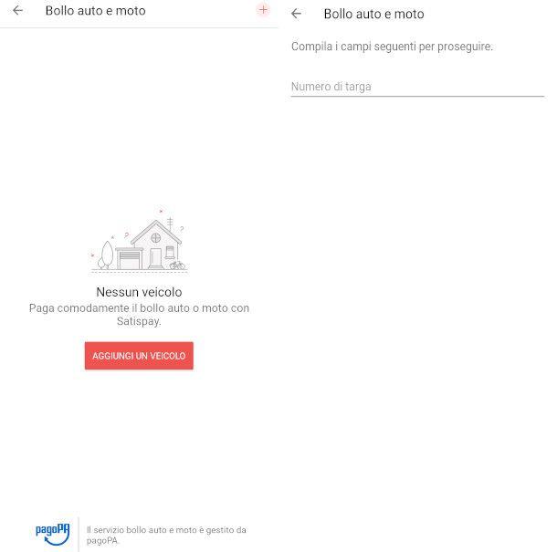 pagamento bollo app Satispay