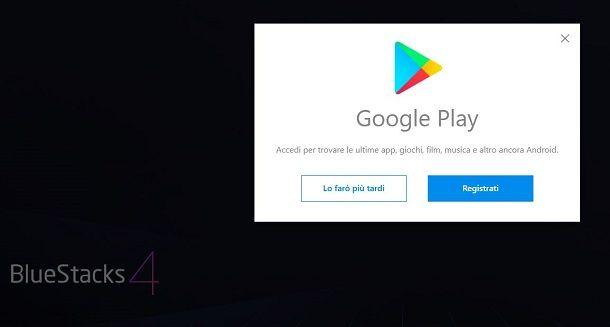 Accesso Google da BlueStacks