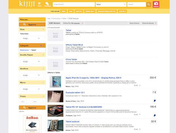 Screenshot di Kijiji