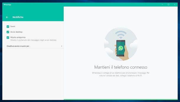 Notifiche WhatsApp per PC