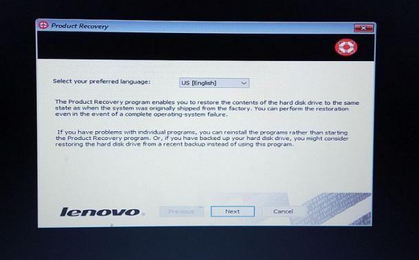 Ripristinare computer come nuovo