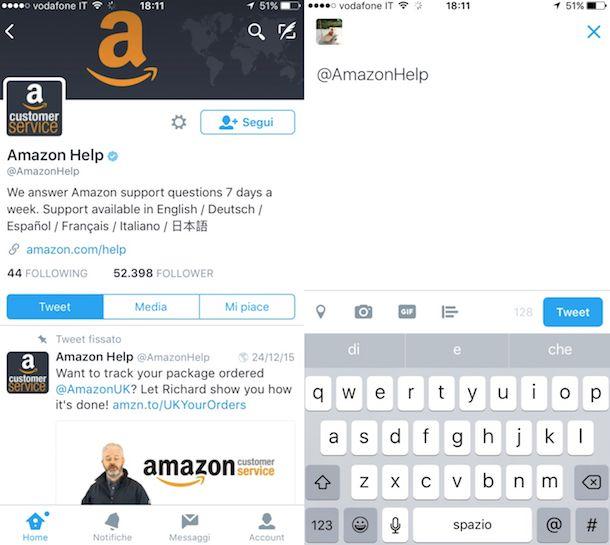 Screenshot Amazon Twitter