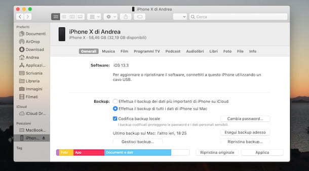 Come collegare iPhone a iTunes su Mac