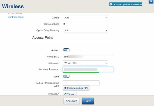 Come cambiare password WiFi: TIM Hub