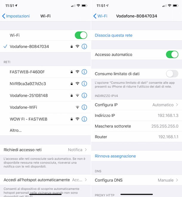 Indirizzo IP router iPhone