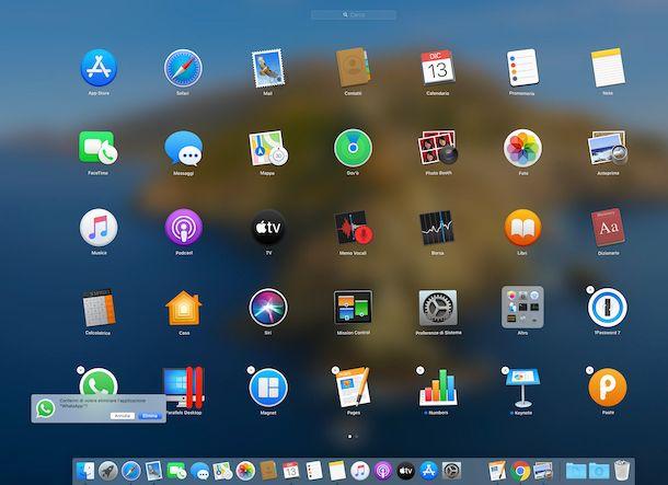 Disinstallazione applicazioni macOS tramite Launchpad