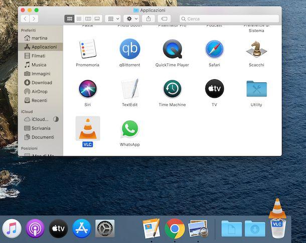 Disinstallazione applicazioni macOS tramite Cestino